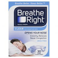 Breathe Right Nasal Strips Clear Large Strips 30 Pack