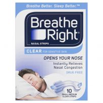 Breathe Right Nasal Strips Clear Small/Medium Strips 10 Pack