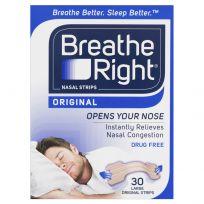 Breathe Right Nasal Strips Tan Large Strips 30 Pack