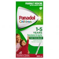 Panadol Children 1-5 Years Strawberry Suspension 200ml