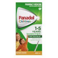 Panadol Children 1-5 Years Orange Suspension 200ml