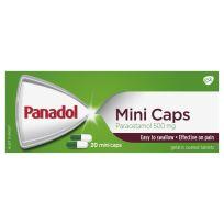 Panadol Mini Caps Paracetamol 500mg 20 Capsules