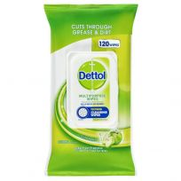 Dettol Multipurpose Wipes Crisp Apple 120 Pack