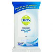 Dettol Antibacterial Disinfectant Surface Cleaning Wipes 45 Pack