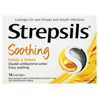 Strepsils Sore Throat Lozenges Honey & Lemon 16 Pack