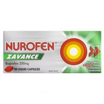 Nurofen Zavance 200mg 20 Liquid Capsules