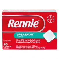 Rennie Spearmint flavour 96 Tablets