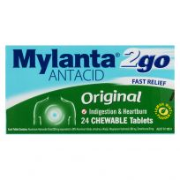 Mylanta 2Go Antacid Original Chewable 24 Tablets