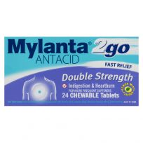 Mylanta 2Go Antacid Double Strength Chewable 24 Tablets