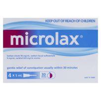Microlax Enema 5ml 4 Pack