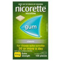 Nicorette Gum 4mg Classic 105 Pack
