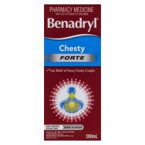 Benadryl Cough Liquid Chesty Forte 200ml
