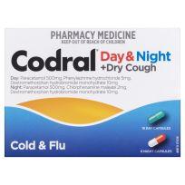 Codral PE Cold & Flu + Cough Day & Night 24 Capsules