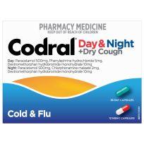 Codral PE Cold & Flu + Cough Day & Night 48 Capsules