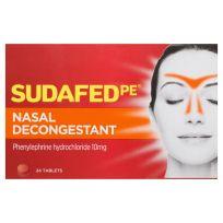 Sudafed PE Nasal Decongestant 24 Tablets