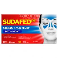 Sudafed PE Day + Night Relief 48 Tablets