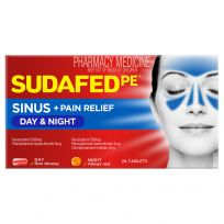Sudafed PE Day + Night Relief 24 Tablets