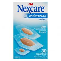 Nexcare Waterproof Bandages Strips Assorted 30 Pack