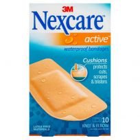 Nexcare Active Waterproof Strips Large 10 Pack