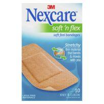 Nexcare Soft 'n Flex Strips 50mm x 101mm 10 Pack