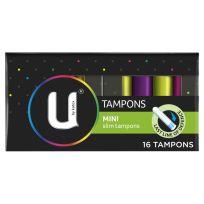 U By Kotex Mini Slim Tampons 16 Pack
