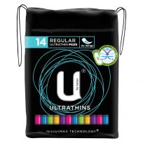 U By Kotex Ultrathin Regular Pads No Wings 14 Pack