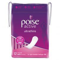 Poise Pads Active Ultrathins Super No Wings 12 Pack
