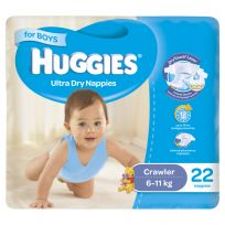 Huggies Convenience Nappy Crawler Boy 22 Pack