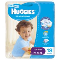 Huggies Convenience Nappy Toddler Boy 18 Pack