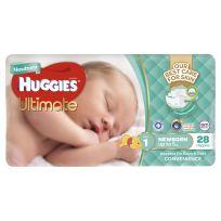 Huggies Ultimate Newborn Nappies 28 Pack