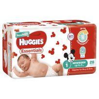 Huggies Essentials Nappies Unisex Size 1 28 Pack