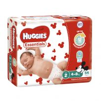 Huggies Essentials Nappies Unisex Size 2 54 Pack