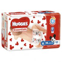 Huggies Essentials Nappies Unisex Size 6 40 Pack