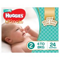 Huggies Ultimate Infant Nappies Unisex Size 2 24 Pack