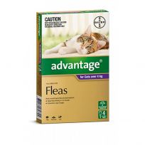 Advantage Large Cat 4kg (Purple) 4 Pack