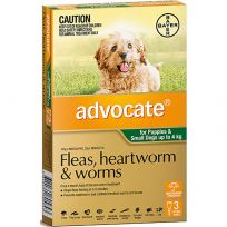 Advocate Small Dog 0 - 4kg Green 3 Pack