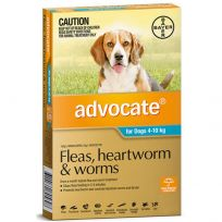 Advocate Medium Dog 4 - 10kg (Aqua) 6 Pack