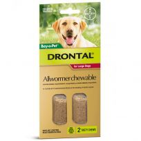 Drontal Allwormer Chewables for Large Dogs 35kg 2 Tablets