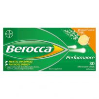 Berocca Performance Orange Effervescent Tablets 30 Pack