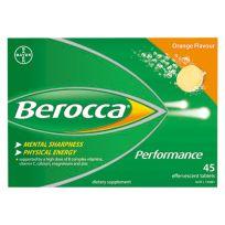 Berocca Performance Orange Effervescent Tablets 45 Pack