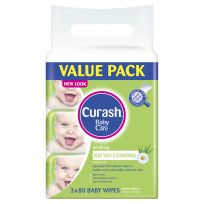 Curash Baby Wipes Soothing 3 x 80 Pack