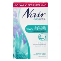 Nair Easiwax Large Wax Strips Legs & Body 40 Pack