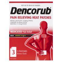 Dencorub Medicated Heat Patches 3 Pack