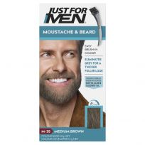 Just For Men Moustache & Beard Brush-In Colour Gel Medium Brown