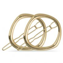 Lady Jayne 17082 Gold Round Clips 2 Pack