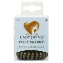 Lady Jayne Style Guards Green Spiral Elastics 4 Pack