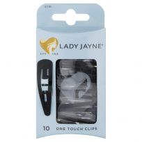 Lady Jayne 3013 One Touch Clips Black 10 Pack