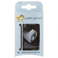 Lady Jayne 2280 Snagless Elastics Brown 18 Pack