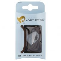 Lady Jayne 2281 Snagless Thick Elastics Brown 10 Pack
