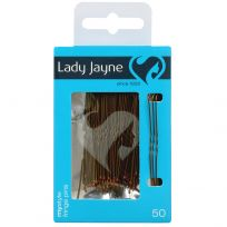 Lady Jayne 2821 Fringe Pins Brown 5cm 50 Pack
